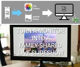 Turn a Monitor Into a Family-shared Live Slideshow Album (w/ Raspberry Pi)