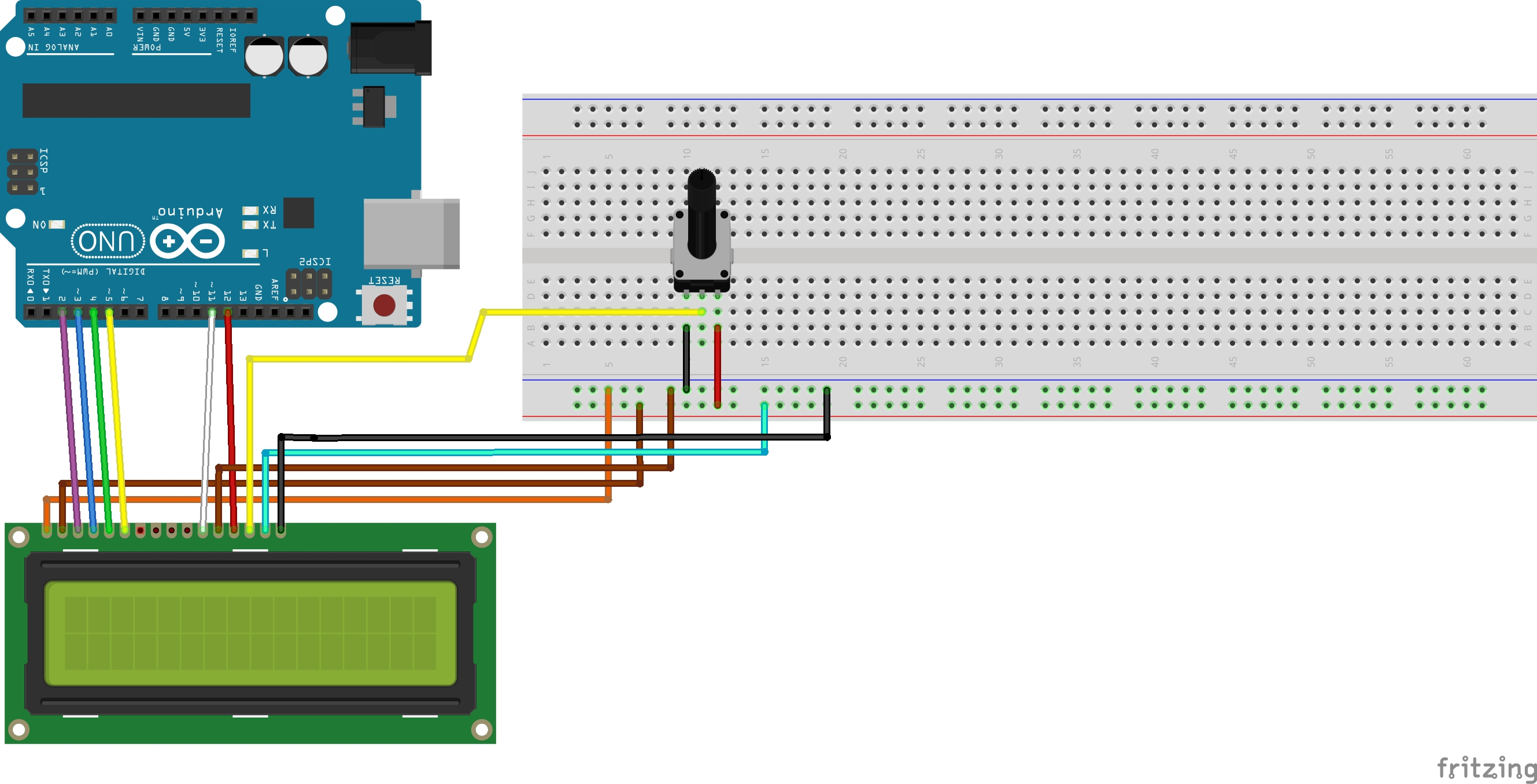 Picture of Set Up Potentiometer and LCD
