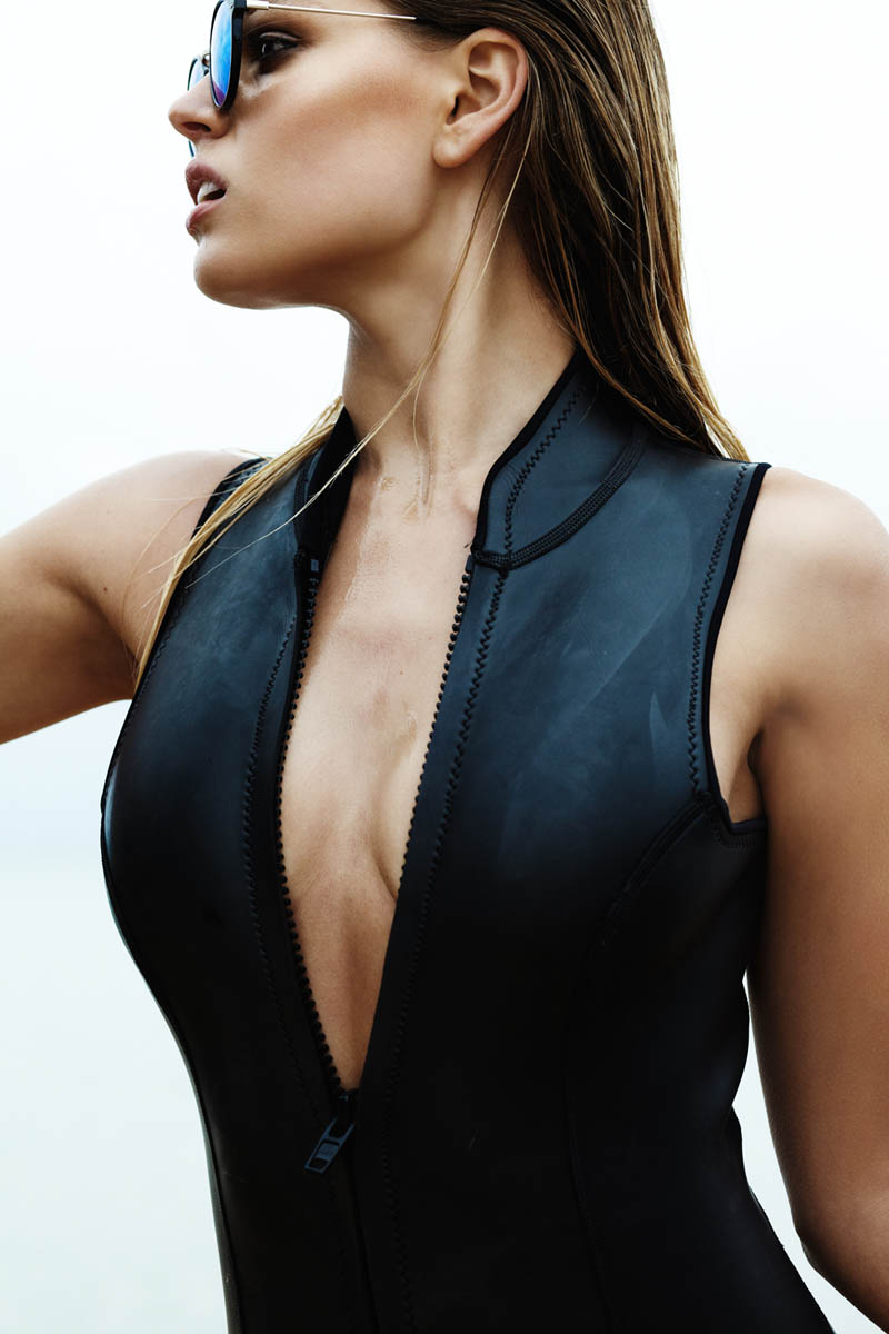 Picture of Faux Leather Bodysuit / Swimsuit