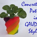 Concrete Pots in Gaudi Style