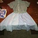 Shoddy upcycle! Mens dress shirt into Dress!