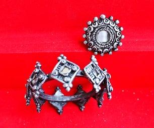 DIY Oxidized Silver Clay Jewelry