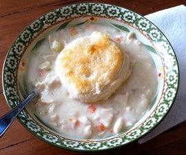 Chicken Pot Pie Dumpling Soup