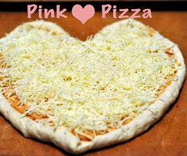 Pink Heart Pizza