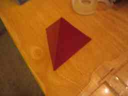 Picture of How to Make a Tetrahedron Platonic Solid or a Four Sided D&D Die (dice)