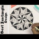 Easy Zentangle Design for Beginners