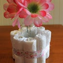 DIY Baby Shower Diaper Cake Centerpieces