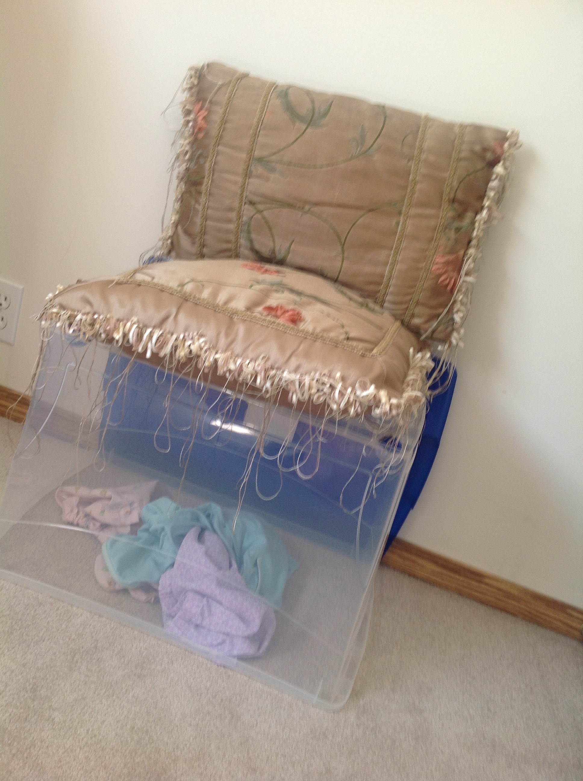Picture of Dirty Laundry Bucket/chair Decor for Your Room!