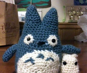 Crochet Blue and White Totoros