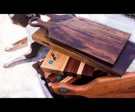 DIY Turquoise Inlaid Cutting and Charcuterie Boards