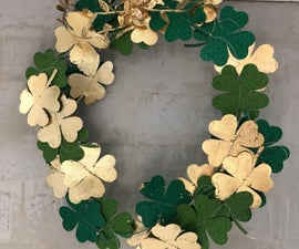 St. Patrick's Day Gilded Wreath - We're Looking Over a Gold Leaf Clover ...