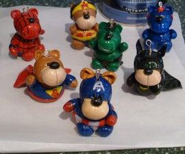 Polymer Clay Bear Ornaments
