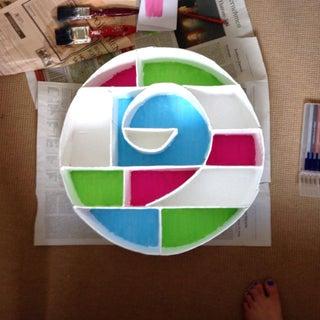 Circular Cardboard Shadowbox (Hot-glue Method)