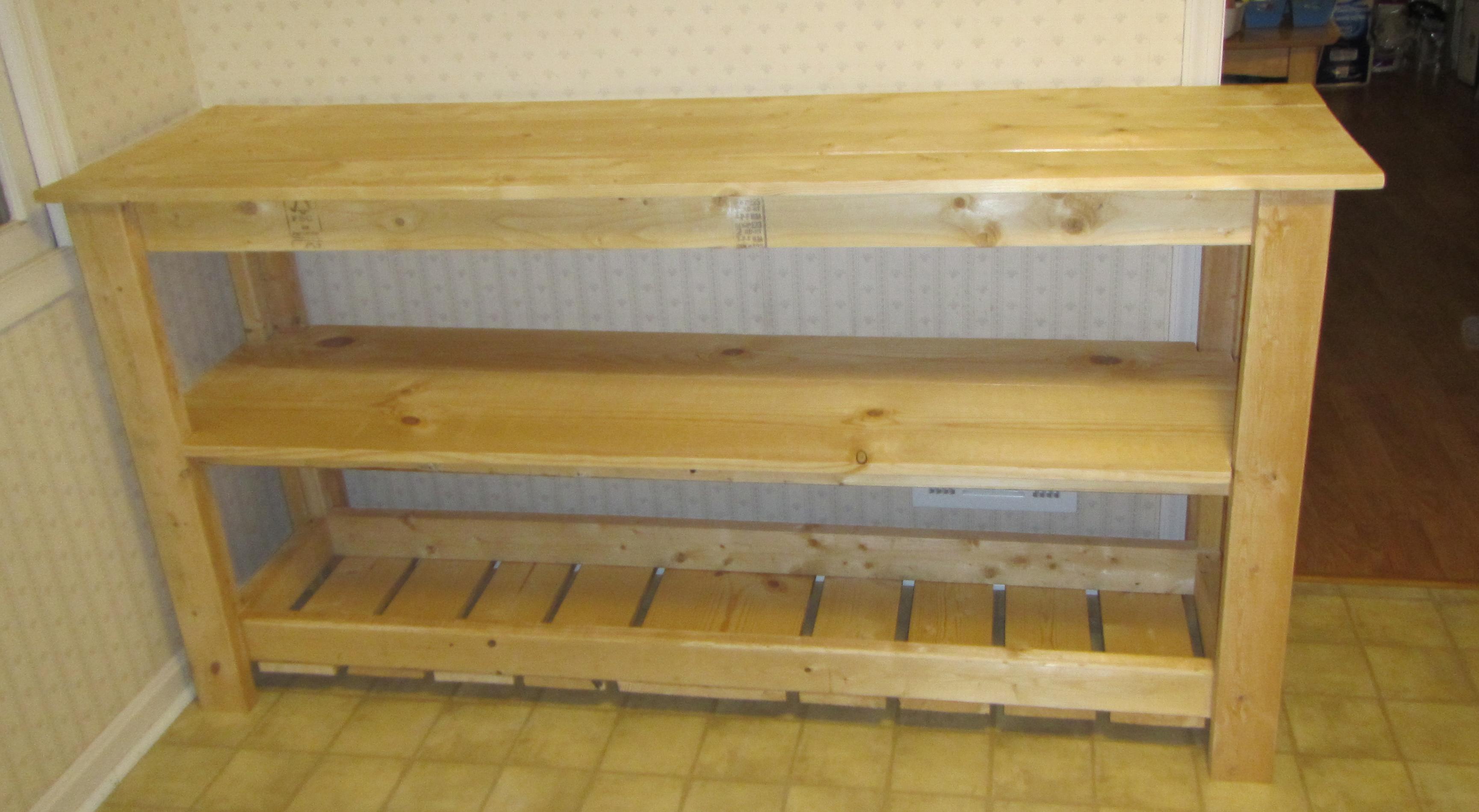 Picture of DIY Kitchen Shelving Unit Under $150