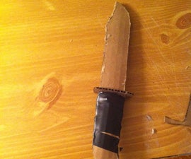 How to Make a Combat Knife Out of Cardboard