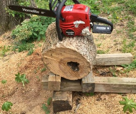 Robust Chainsaw Stand