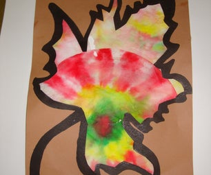 """Fall """"Stained Glass"""" Leaf"""