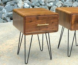 Mid-Century Modern Walnut End Table   How to Build - Woodworking
