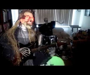 Arduino Controlled Animatronic Skeleton Rock Band - in Progress