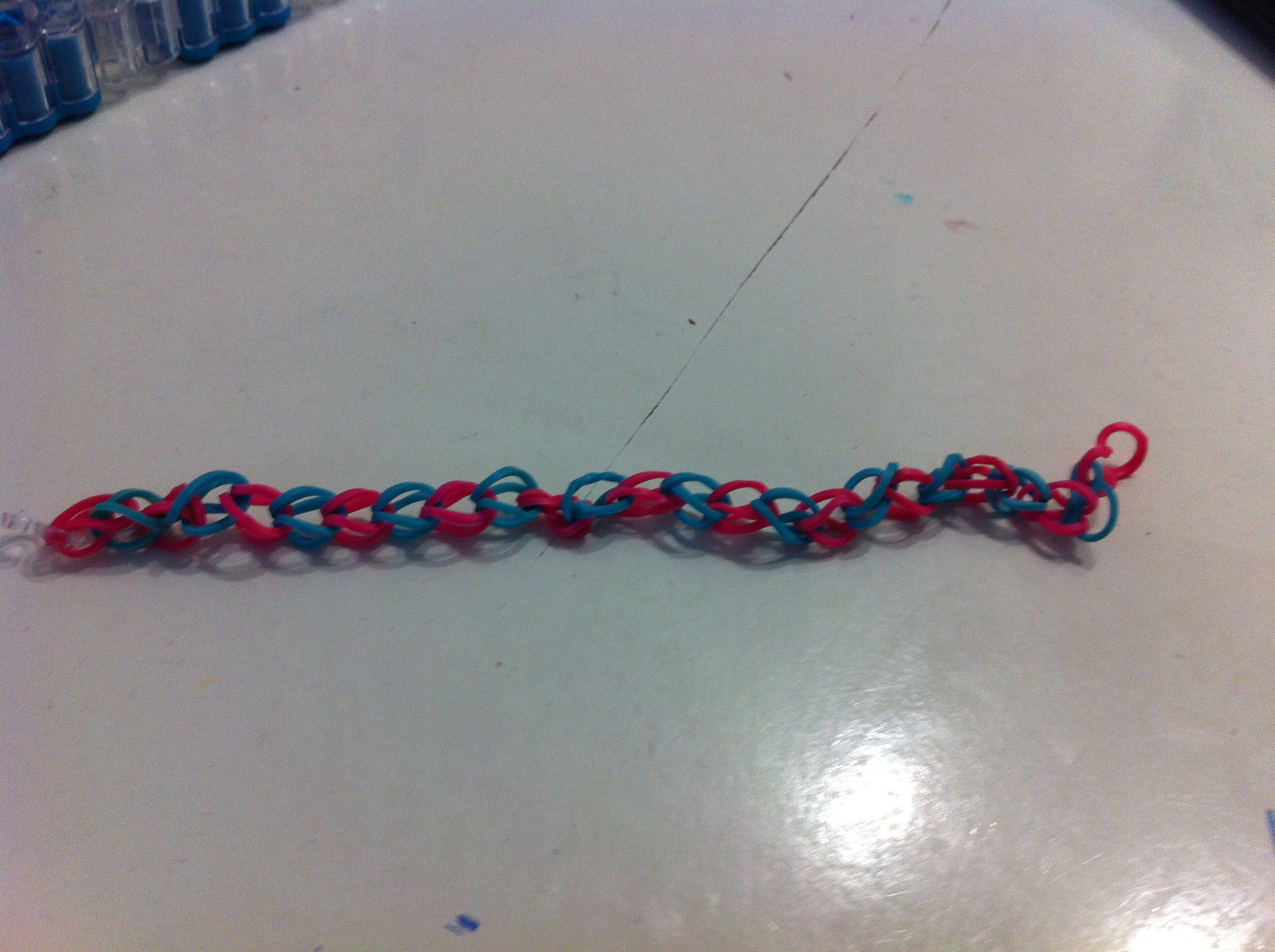 Picture of Finishing the Bracelet!