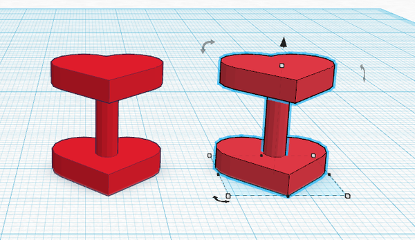 3D Printed Heart Cuff Links (DIY With TinkerCad)