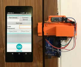 Arduino & Android Based Bluetooth Control Password Protected Door Lock (Version 2)