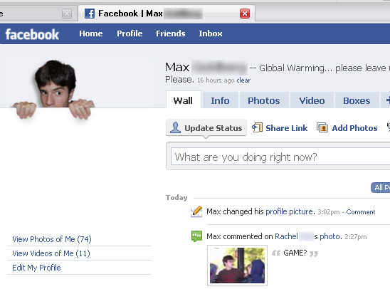 Picture of Popup Facebook Picture