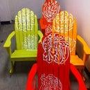 CNC Vinyl Spray Painted Chairs