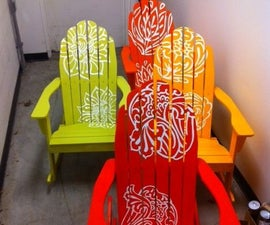 CNC Vinyl Spray Painted Chairs