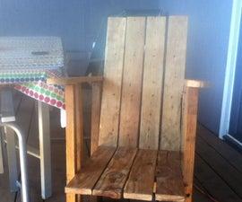Reclaimed wood deck chair