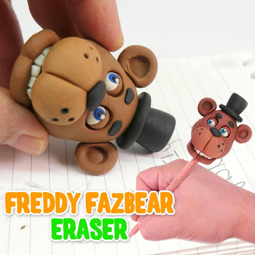 Picture of DIY Freddy Fazbear Eraser - Halloween Five Nights at Freddy's Pencil Eraser
