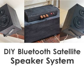 DIY Bluetooth Satellite Speaker System w/ Subwoofer