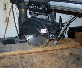Easier Precision Miters on a Radial Arm Saw