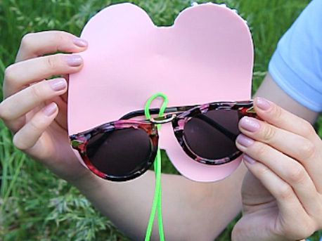 Picture of I Love Quick DIY Projects Like This Sunglasses Case. So Simple, Yet So Stylish!