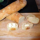 Traditional baguettes by hand