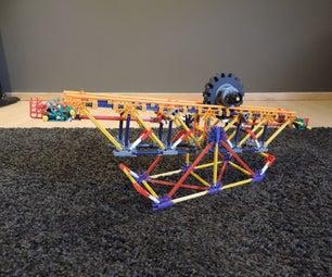 Knex Ball Machine Element: the Rolling Wheel
