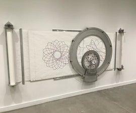 """""""螺螺"""" - 直径5英尺,墙壁安装螺旋仪"""