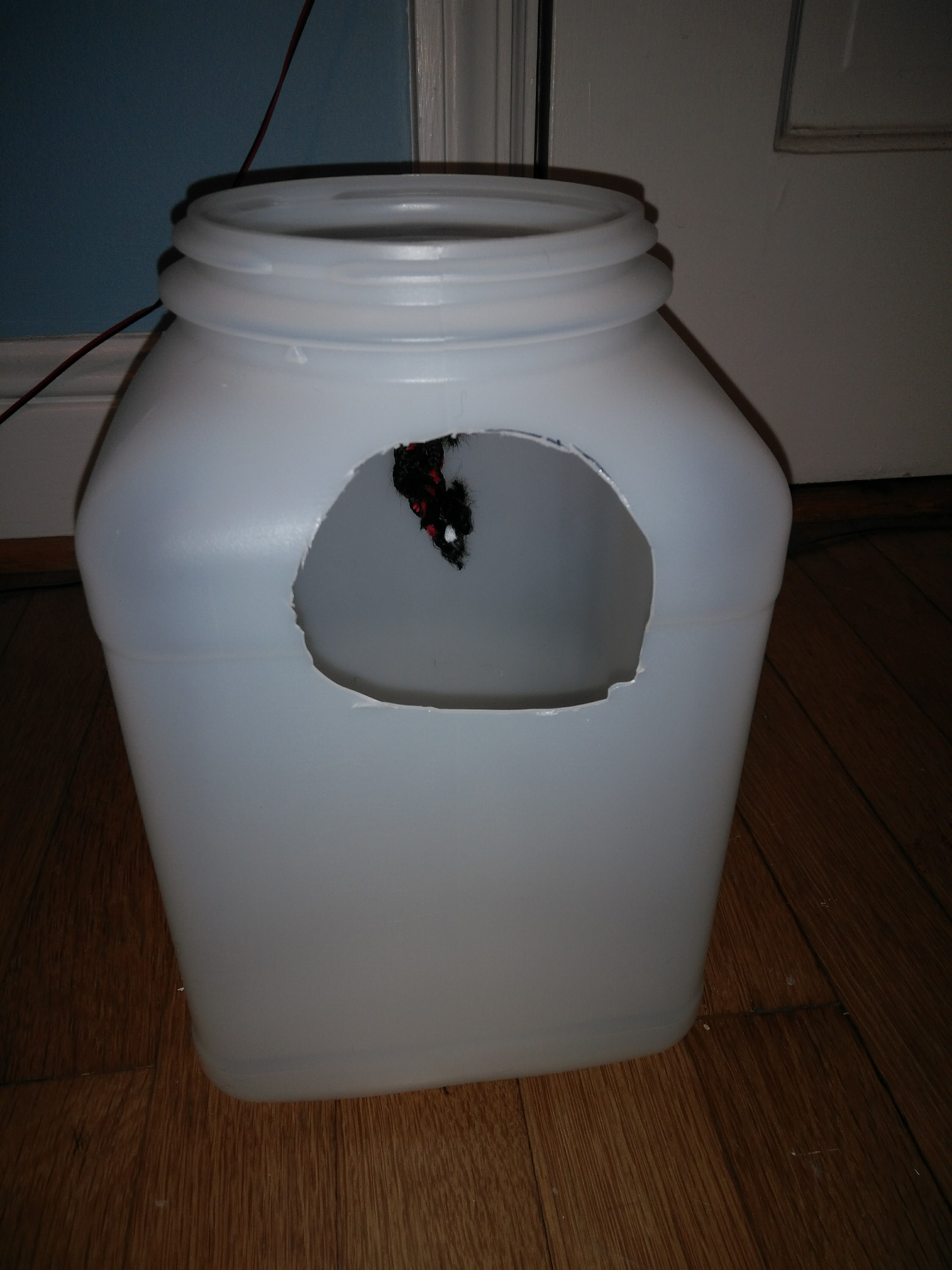 Picture of Use a Marker or Pencil to Mark on Your Large Container the Size of the Bottle Half