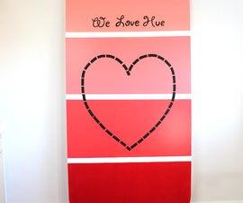 Giant Paint Chip Valentine