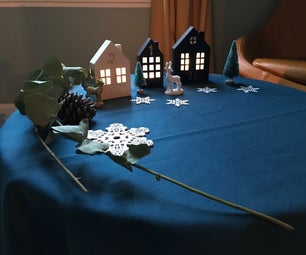Making an Advent Calendar Using Small Houses