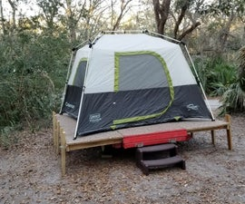 Expanding Utility Trailer Platform for Camping