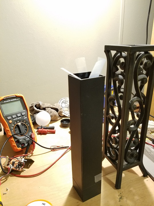 Picture of Step 2: Making an Enclosure for the Lamp and Installing the Switches.