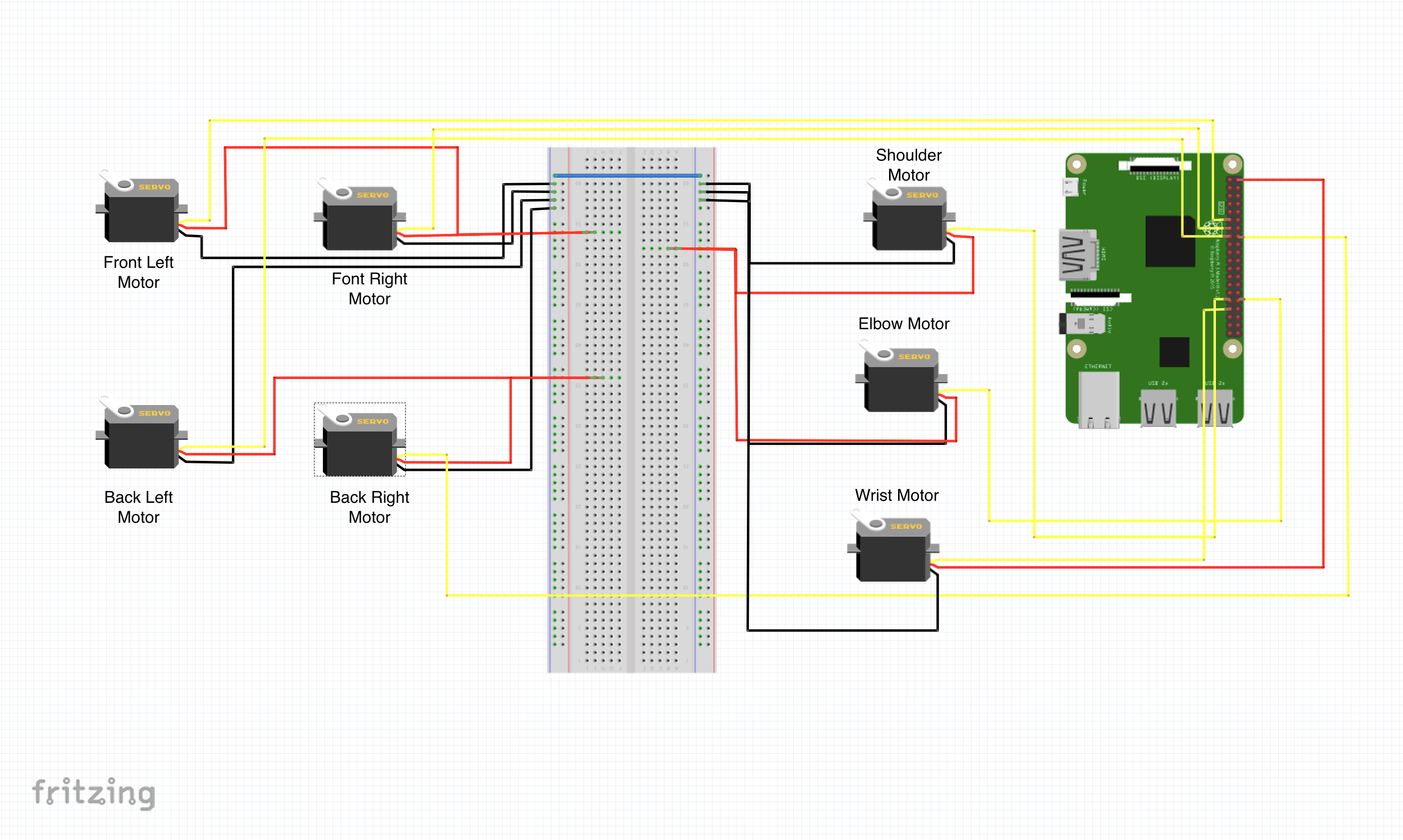 Picture of Attach Your Raspberry Pi and Wire Everything