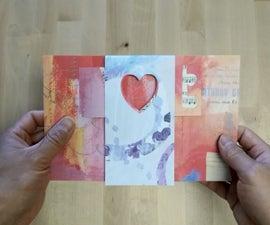 How to Make Heart Shutter Card