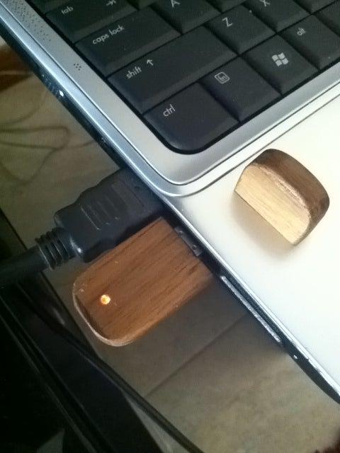 DIY: Teak USB Drive