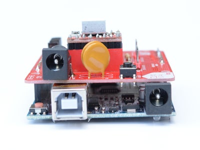 Arduino UNO and Laser/motor Control Sheild Fitted Together
