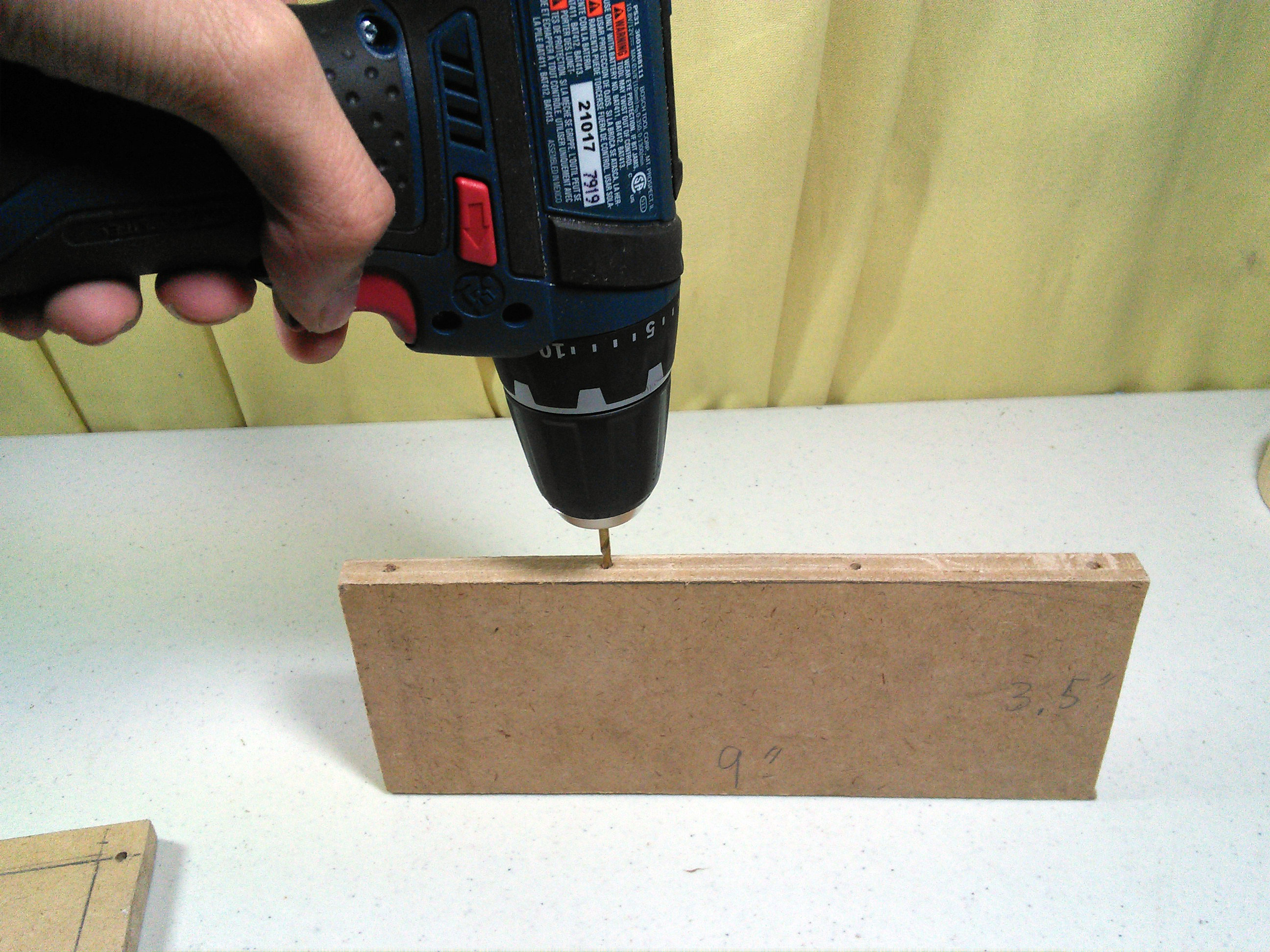 Picture of Drilling Holes for the Screw