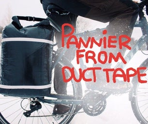 Roll-top Pannier From Duct Tape