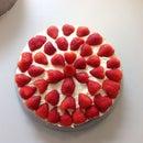 Delicious Strawberry Cream Cake