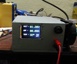3A Variable bench PSU with digital readout on colour display using ATMEGA8